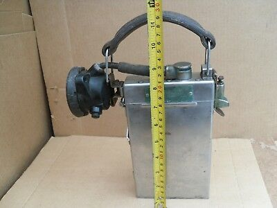 Vintage Hand Held Or Belt Miners Light Shift Boss Safety Lamp Stainless Steel
