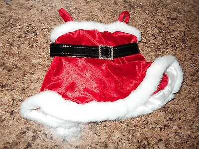 Build a Bear Red  Mrs Claus clause Christmas Dress with Straps