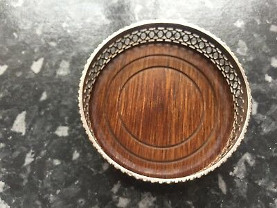 Silver plated wine coaster