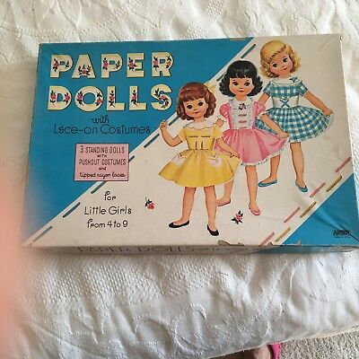 Paper Dolls with Lace-on Costumes- Six Different Paper Dolls - 50+ Outfits