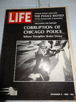 December 6, 1968 Issue Life Magazine Corruption of Chicago Police S/H SPECIAL!