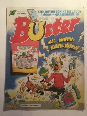 Buster Comic Here Kitty Kitty Kitty 2nd July 1988