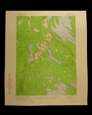 Danforth Maine Map.Danforth Maine 1960 Vintage Usgs Topographical Chart Map 35 95