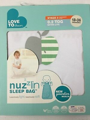 Love To Dream Nuzzlin Sleep Bag, White, Large, 18-36 Months