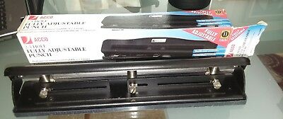 Acco Model 20, 3 Hole Punch New In Box