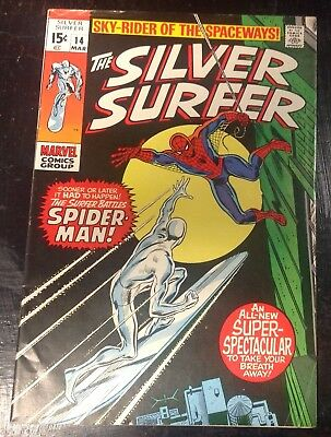 The Silver Surfer #14 (Mar 1970, Marvel) FN +(6.5)