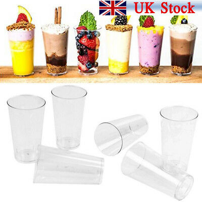 50/100 Mini Small Plastic 3oz Dessert Drink Shooters Jelly Cups Shot Glass Party