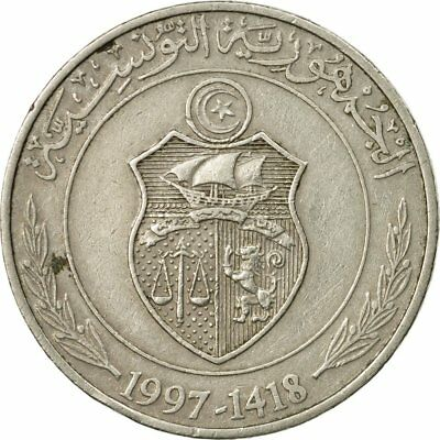 [#531556] Coin, Tunisia, Dinar, 1997, Paris, EF(40-45), Copper-nickel, KM:347