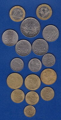 FRENCH COINS - WORLD BULK LOT - all 7 denominations for Travellers or Collectors