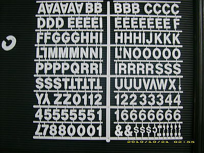 """New  White 1"""" Menu & Message Board Letters & Numbers periods,hyphens,commas etc"""