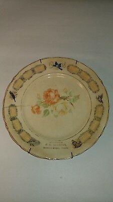 Antique Plate 1918 F. W. BEHRING, BEHRING STORE, TEXAS