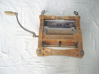 Vintage Anchor Brand Clothing Wringer Bicycle Water Board 1898 Patent Laundry