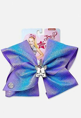 """NWT Justice girls EXCLUSIVE JoJo Siwa UNICORN Initial """"A"""" large bow Letter A"""
