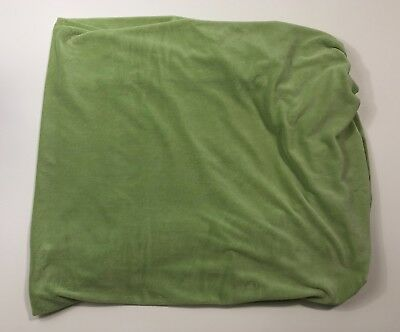 POTTERY BARN KIDS Green Soft Chamois Crib Toddler Bed Sheet Fitted