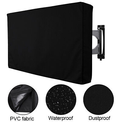 "Outdoor TV Cover Fitted Waterproof Weatherproof Television Protector 30""-65"""