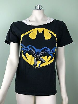Vintage 1988 Batman T Shirt D.C. Comics INC Official Medium Small DC M S VTG