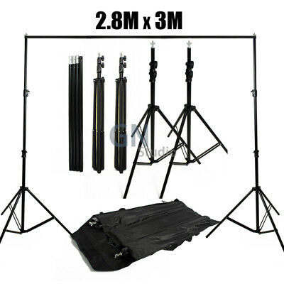2.8x3m Photography Background Stand Photo Studio Backdrop Support System Kit