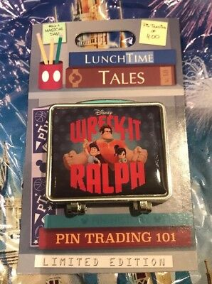 Disney Lunch Time Tales Wreck It Ralph Pin LE 1500 September Pin Of The Month
