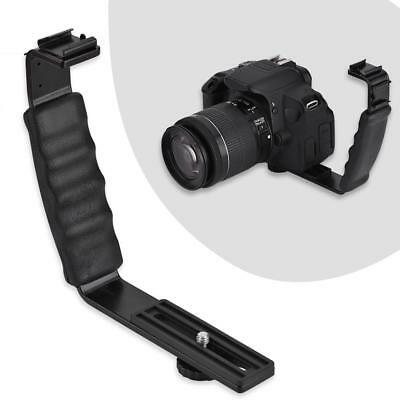 L-Shaped Camera Flash Bracket Holder Hot Shoe Mount For Speedlite Camera DSLR C