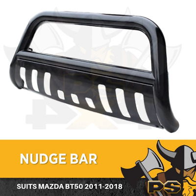 Nudge Bar Bullbar Bumper for Mazda BT-50 12-18 Stainless Steel Black