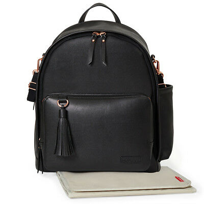 Skip Hop Greenwich Backpack Simply Chic Black and Gold (Limited Edi)| Free Ship