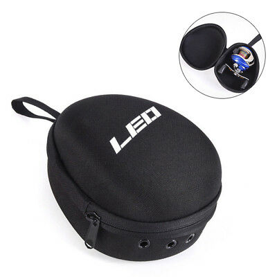 Fishing Reel Protect Bag Wheels Gear Padded Hard Case Pouch Tackle Storage Agele