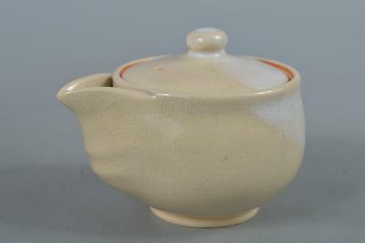 R3730: Japanese Hagi-ware White glaze TEA POT Houhin Sencha, Tea Ceremony
