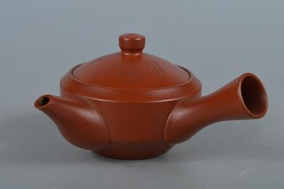 R3177: Japanese Tokoname-ware Person Poetry sculpture TEAPOT Kyusu Sencha