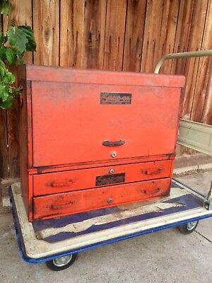 Vintage Snap On Top And Middle Toolbox 8 Drawers And 2 Trays