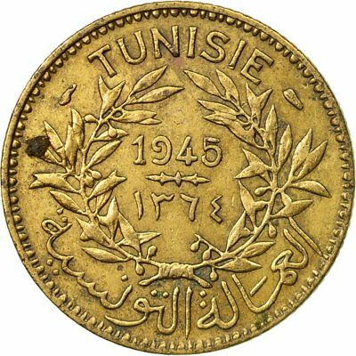 [#531405] Coin, Tunisia, Anonymous, Franc, 1945, Paris, VF(30-35)