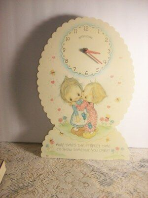 1973 Hallmark Cards Betsy Clark Battery Operated Wall Clock Works 14 Inches