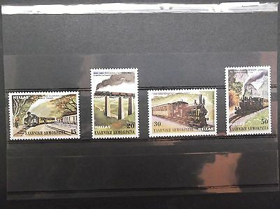 Greece 1984 SET 100 Years of the Greek Railway Transport Train Piraeus Pylion