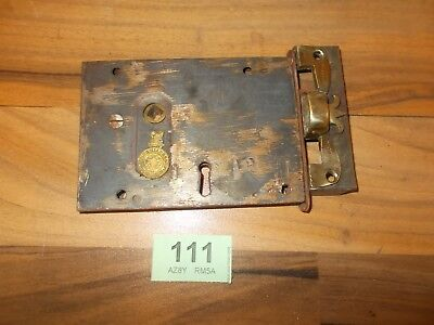 Vintage Antique Rim Lock / Latch Door Accessories With Keep 111