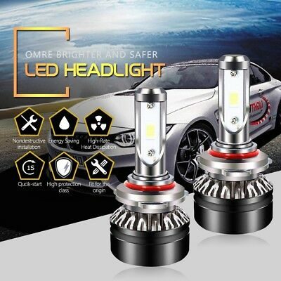 HB3 9005 LED Headlight Bulbs 6000LM 6500K High Beam Cool White SEOUL Chips