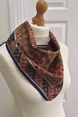 Original 60's Mary Quant Triangular Vintage Scarf Kerchief Geometric Mod Style