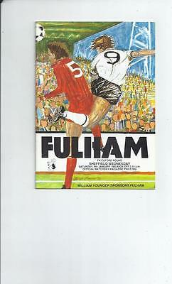 Fulham v Sheffield Wednesday FA Cup Football Programme 1984/85