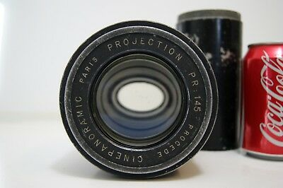 Vintage Procede Cinepanoramic Paris Anamorphic movie film projection lens chip