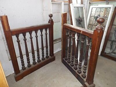 Antique Cedar and Pine Church Pulpit Balustrade - 1920's era Railing / Turning