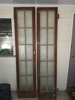 Antique Red Cedar Colonial French Doors from 1890's Homestead