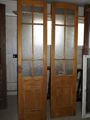 Antique Pine Colonial French Doors