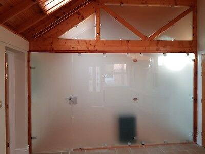 Frosted Glass partition wall with door