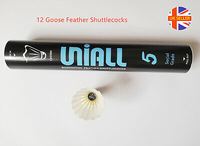 UNIALL 1000 Feather Badminton Shuttlecocks / Shuttles