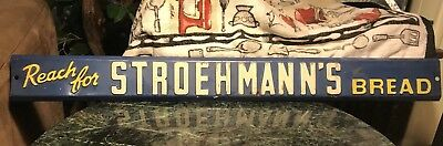 STROEHMANN Brothers BREAD Advertising Metal COUNTRY STORE DOOR PUSH