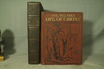 lot 2 antique old vtg Bible study books One Syllable Life of Christ Childrens