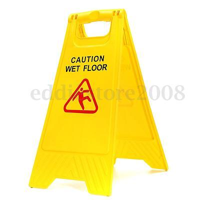 Caution Wet Floor Signs Collapsible Safety Cleaning Slippery Warning Both Sided