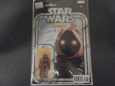 Signed Star Wars Marvel Comic #10 Jawa JTC Rusty Goffe Autograph