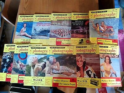 Practical Photography Magazine 1961, 11 Issues. Vintage.