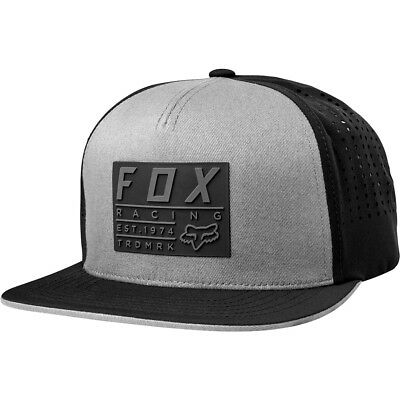 Fox Racing Redplate Tech Mens Snapback Hat Steel Gray