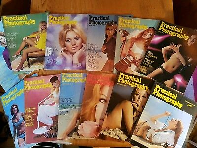 Practical Photography Magazine 1970, 12 Issues. Vintage.