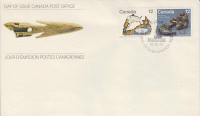 Canada #748-749 12¢ Inuit - Hunting First Day Cover